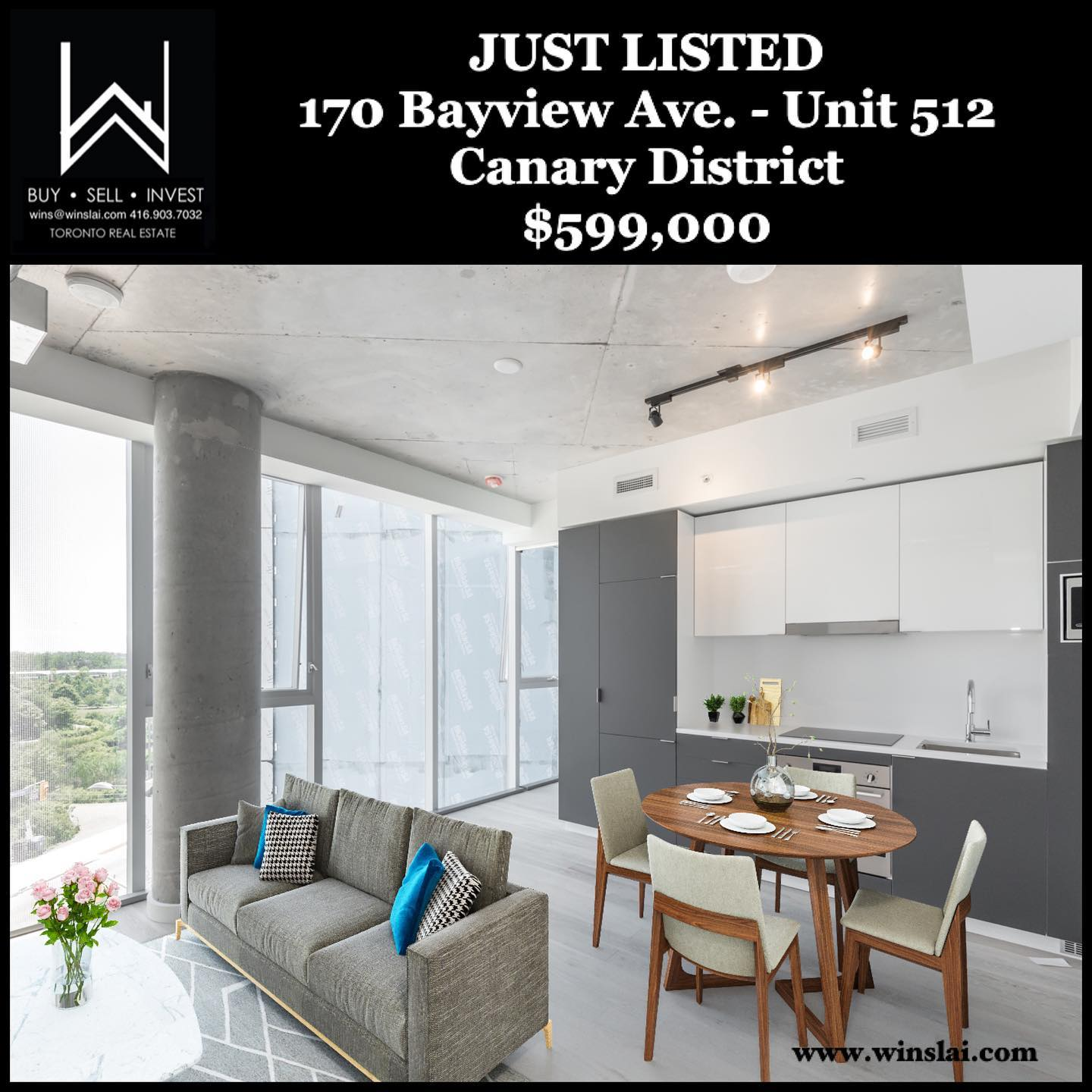 Just Listed flyer for condo.