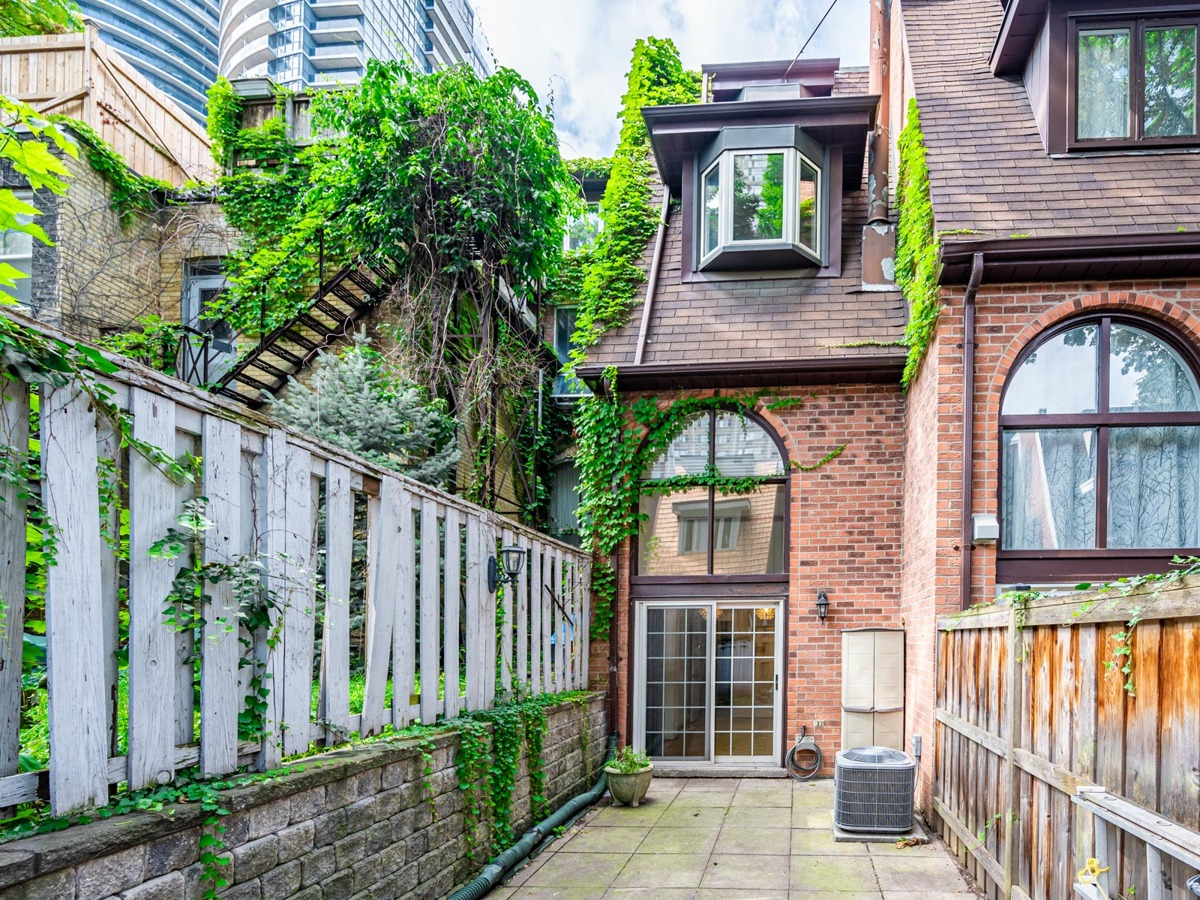 Red-brick townhouse in Toronto.
